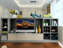 电视柜客餐厅效果图 12�O整体布置合理、温馨_维意定制家具商城