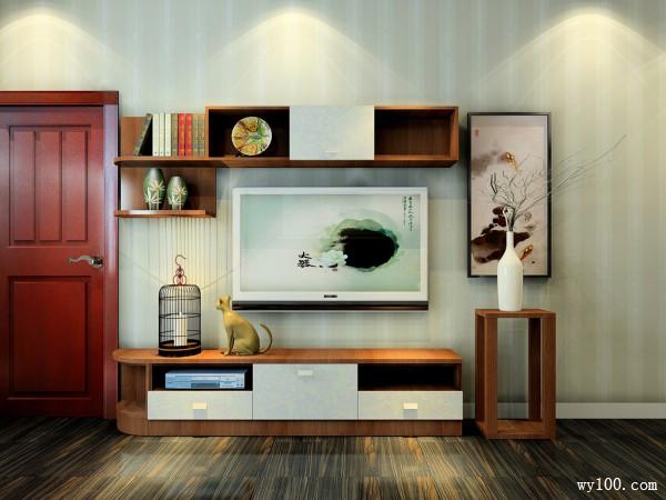 复古电视柜卧室装修效果图