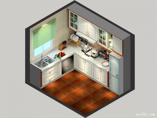 L型橱柜设计 6平一字型的吊柜略显大方_维意定制家具商城