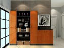 隔断客餐厅效果图 29�O黑白灰色系整体简洁实用_维意定制家具商城