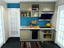 简洁厨房效果图 4�O射出整个厨房时尚与新潮_维意定制家具商城