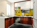 U字形橱柜设计 凸显厨房时尚简约美感_维意定制家具商城