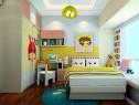 暖色调儿童房效果图 10�O为儿童打造健康的空间_维意定制家具商城
