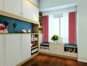 现代简洁卧室效果图 11�O亮白吸塑修饰玉玛枫木柜_维意定制家具商城