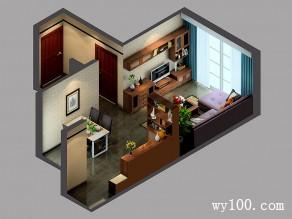 大气稳重客餐厅效果图 49�O打造出极为舒适客餐厅_维意定制家具商城