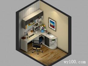 小空间书房效果图 4�O时尚简单温馨学习环境_维意定制家具商城