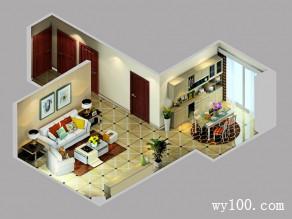 实用为主25�O客餐厅设计效果图_维意定制家具商城