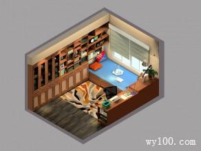 榻榻米书房效果图 古色古香古韵同在_维意定制家具商城