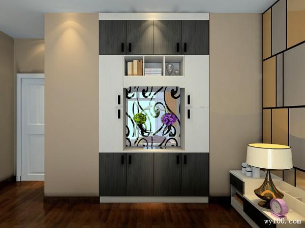浮雕与撞色的背景墙卧室 黑白经典的浪漫_维意定制家具商城
