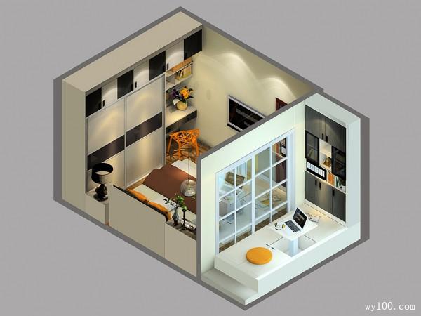 15�O榻榻米阳台卧室设计效果图_维意定制家具商城