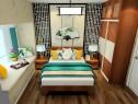 现代舒适卧室效果图 9�O搭配简约时尚的造型墙_维意定制家具商城