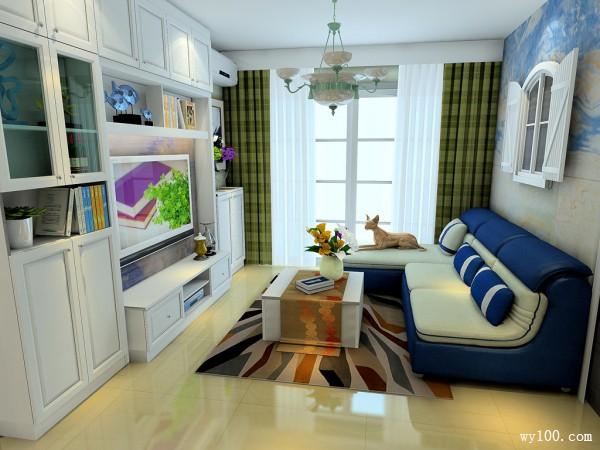白色田园客餐厅效果图 15�O空间设计清爽整洁_维意定制家具商城