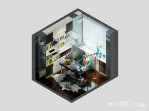 书房装修效果图 7�O利用基础柜避开柱子_维意定制家具商城