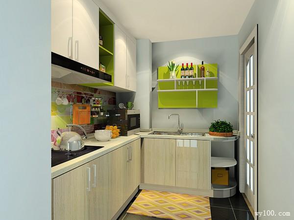 凹位橱柜整体设计 使厨房舒适自然_维意定制家具商城
