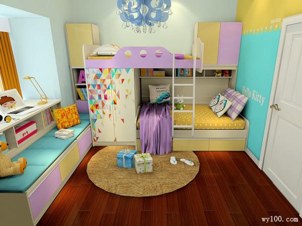 搭配喷绘面板儿童房 活跃空间童趣氛围_维意定制家具商城