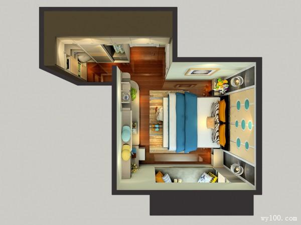 L型衣帽间卧室 背景墙营造时尚大气氛围_维意定制家具商城