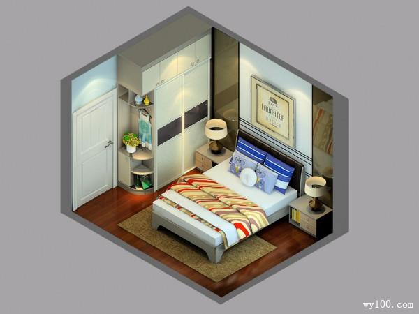 10�O趟门衣柜卧室设计效果图_维意定制家具商城