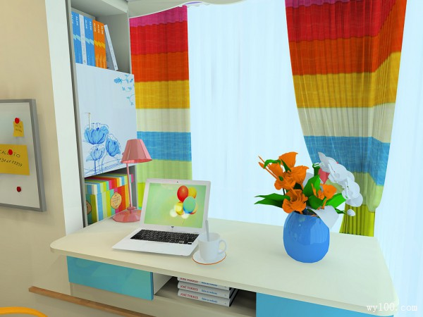 简约儿童房效果图 飘窗合理利用扩容空间_维意定制家具商城