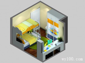 柜体合理利用儿童房 蓝色调为主营造快乐童年_维意定制家具商城