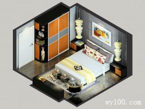 休闲卧室效果图 15�O空间氛围_维意定制家具商城