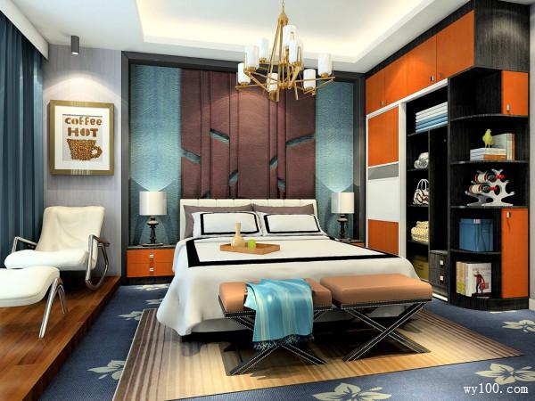 17�O时尚卧房设计效果图_维意定制家具商城
