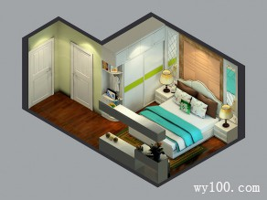 带飘窗柜卧室效果图 18�O摆放统一空间_维意定制家具商城