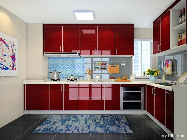 L型橱柜设计 6平装出线条感十足之美_维意定制家具商城