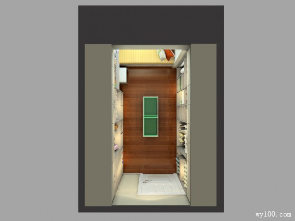 定制衣帽间卧室效果图 9�O强大储物功能空间_维意定制家具商城