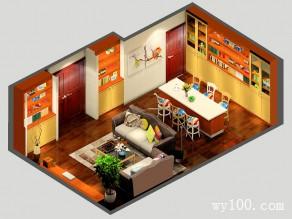 简约大方客餐厅效果图 31�O给人复古高端的感觉_维意定制家具商城