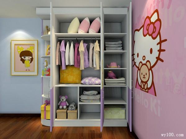 hello Kitty儿童房装饰 10平圆女孩公主梦_维意定制家具商城