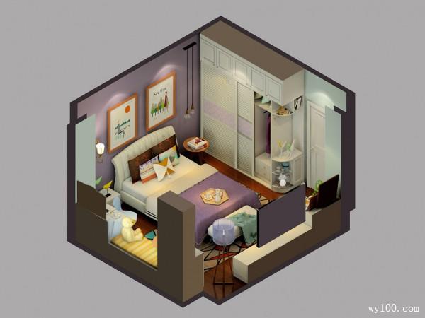 公主儿童房效果图 18�O公主房空间_维意定制家具商城