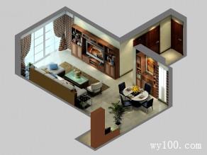 实用客餐厅效果图 51�O大气客餐厅空间_维意定制家具商城