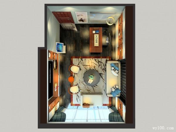 拼接书房效果图 29�O书房K房结合体_维意定制家具商城