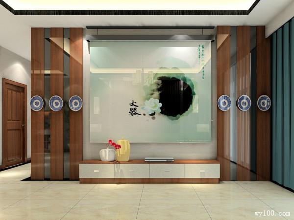 中国风客餐厅效果图 36�O客餐厅空间格局_维意定制家具商城