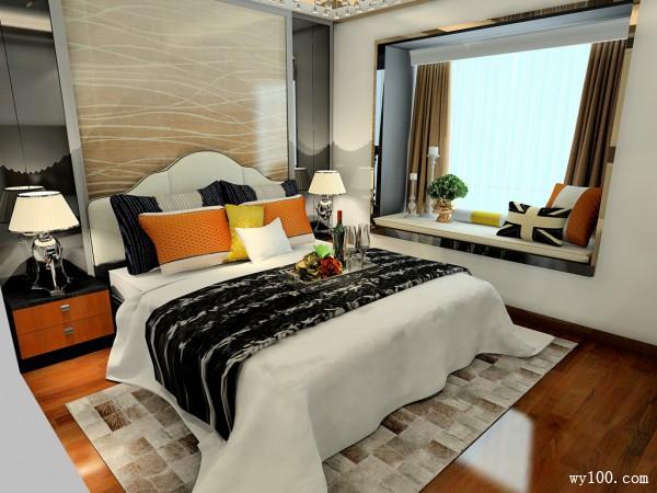 飘窗卧室效果图 15�O卧室设计风格_维意定制家具商城