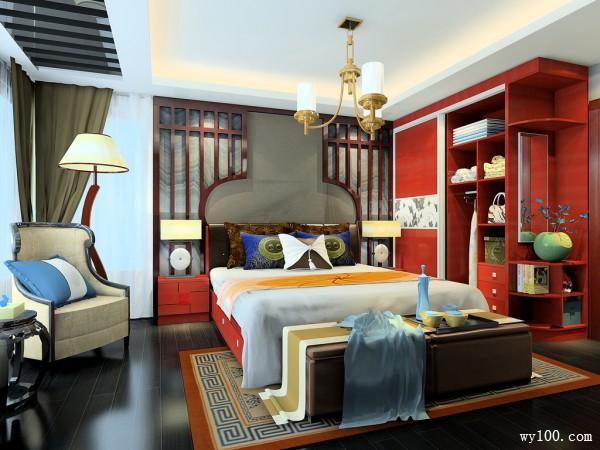 diy卧室效果图 17�O中式氛围空间_维意定制家具商城