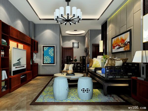 29�O精美中式客餐厅效果图_维意定制家具商城