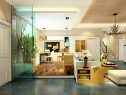 简约现代客餐厅 合理利用每一处空间_维意定制家具商城