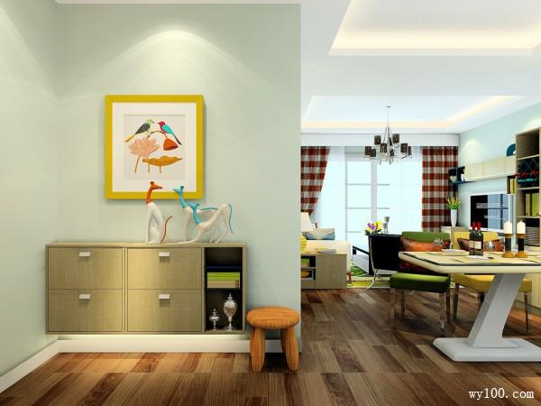 现代客餐厅设计 26平超强收纳搭配_维意定制家具商城