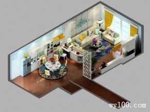 多功能客餐厅 餐边柜组合宽敞明亮_维意定制家具商城