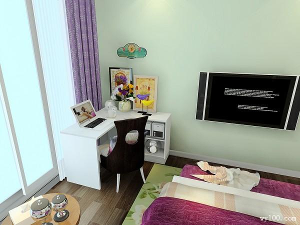 紫粉色卧室效果图 14�O整体优雅玄幻_维意定制家具商城