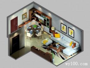 简约新颖客餐厅 28平烘托空间自然细腻感_维意定制家具商城