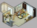 简约时尚客餐厅 吧台拼接餐边柜空间温馨大气_维意定制家具商城