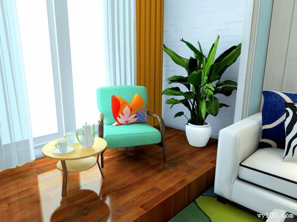 现代客餐厅设计 客厅阳台连通空间明亮开阔_维意定制家具商城