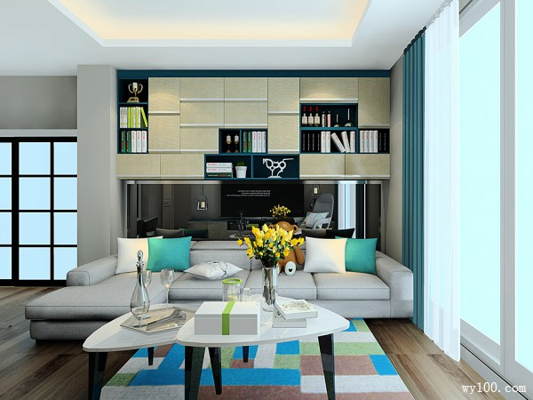 极简主义风格客餐厅效果图 31�O风格简约沉稳_维意定制家具商城