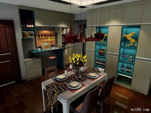 现代简约客餐厅 空间合理布局_维意定制家具商城