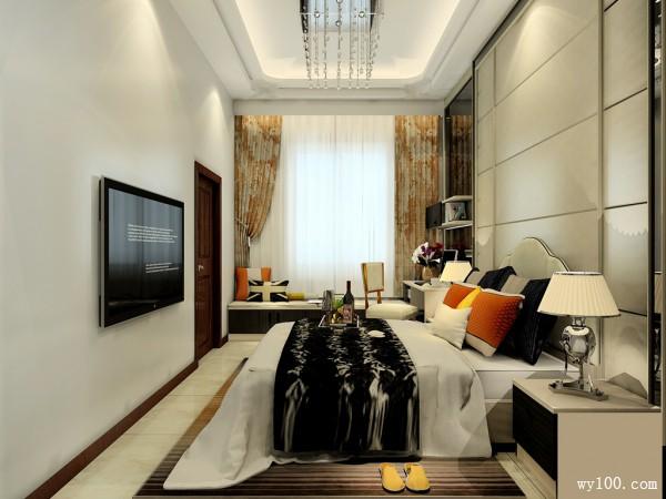 卧室兼衣帽间 书柜与飘窗让房间功能最大化_维意定制家具商城