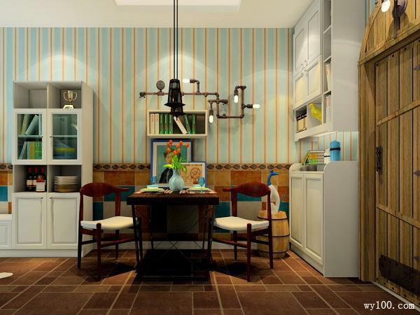 地中海风情客餐厅 配上田园风味打造个性空间_维意定制家具商城