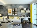 简约客餐厅 黄色搭配高级灰诠释现代主义的心_维意定制家具商城