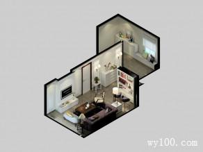 欧式客餐厅效果图 58平融入现代生活元素_维意定制家具商城